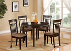 Boston 5 Pieces small kitchen set-round kitchen Table and 4 Chairs