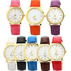 Luxury Fashion Womens Diamond Leather Band Analog Quartz Wrist Watch Cheap