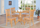 DLVA5-OAK 5 Piece small kitchen table set-drop leaf table and 4 dinette Chairs