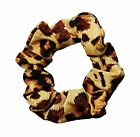 Leopard Soft & Silky Scrunchie Ponytail Holder Hair Accessories Made in USA
