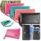 Luxury Leather Card Wallet Wrist Strap Purse Bag Case for Apple iPhone 6