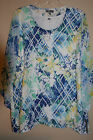 JM Collection Petite 2-Piece 3/4 Sleeve Printed Embellished Top P/XL