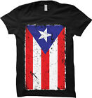 Puerto Rico Flag - Distressed Country Pride Womens T-shirt