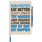 Motivational Notebooks - Hardback A5 White/Red & White/Blue
