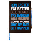 Motivational Notebook - Hardback A5 Black/Blue & Black/Red