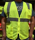Внешний вид - 2 Pockets  Mesh High Visibility Safety Vest, ANSI/ ISEA 107-2015-(SV2ZGM)