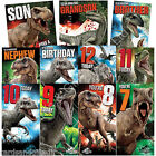 Jurassic World Birthday Card Age Greeting Cards Dinosaur 7th 8th 9th 10th Son