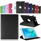 360 Rotating PU Leather Case Smart Cover w/ Swivel Stand For Samsung Galaxy Tab