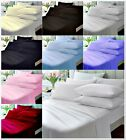 2xEgyptian Cotton Fitted Sheets 200 Thread Count Plain Dyed Pastel Colour
