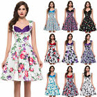 New Vintage Style Retro Floral 50s 60s Pinup Rockabilly Swing Cocktail Dress GK