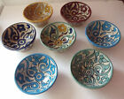 TRADITIONAL HAND PAINTED CERAMIC SMALL BOWL * FES POTTERY