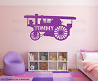 Boys Girls Any Name Bedroom Wall Art Steam Engine Sticker Burrell Showman Decal