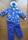 NEW Girl's Winter Snowsuit Purple $130 Ski Bib Coat Snow Suit Size 4 (4t) NWT