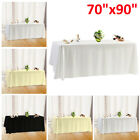 "70"" x 90"" Polyester Tablecloth Table cover Cloth White black ivory-Wedding party"