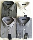 Tom Hagan Shirts Long Sleeve Stripe With Pocket  Polycotton M - Xxl