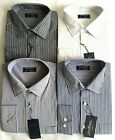 Mens Tom Hagan Shirts Long Sleeve Stripe With Pocket  Polycotton M L Xl Xxl