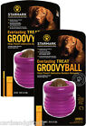 Starmark Everlasting Groovy Ball Medium Large Dog Toy Treat Toys