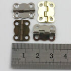 10 PLATED MINIATURE HINGES HARDWARE 13 x 16mm SMALL JEWELLERY & CIGAR BOXES