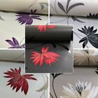 New Belgravia Flower Pattern Floral Leaf Glitter Motif Embossed Wallpaper