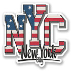 2 x 10cm New York City USA Vinyl Sticker Travel Luggage Tag Car Laptop Fun #5747