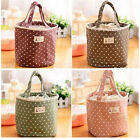 Insulated Tote Lunch Bag FO0A Cool Canvas Thermal Handbag Food Drink Hold UK0A
