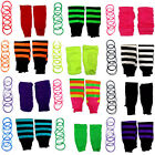 NEON LEGWARMERS BANGLES GUMMIES SET FOR TUTU 1980S FANCY DRESS COSTUME