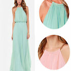 Sexy Boho Long Halter Maxi Dress Ladies Summer Beach Prom Ball Party Fomal Dress