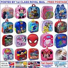 Kids Boys Girls Disney School Bag Backpack Lunch Boxes Rucksack Children Travel
