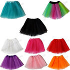 CHILD GIRLS 3 LAYER NEON TUTU SKIRT 1980S 80S FANCY DRESS DANCE