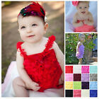 New born Infant Baby Girl Lace Posh Petti Ruffle Rompers tutu With strap 0-3Y