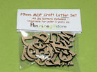 20mm MDF Craft Letters Wooden Alphabet Letters - Set of wood letters shapes