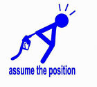 ASSUME THE POSITION DECAL VINYL GRAPHIC  VEHICLE HOOD RV MOTOR HOME AUTO