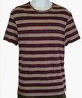 TOPMAN Boys Mens Burgundy White And Blue Stripes T-Shirt - XS S M L XL BNWT