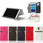 Flip PU Leather Wallet Card Zipper Stand Case Cover For Samsung Galaxy S5 i9600