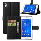 Flip Magnetic Card Wallet PU Leather Case Stand Cover For Sony Xperia M4 AQUA