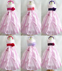 Adorable Light pink fuchsia coral purple taffeta flower girl dress all sizes