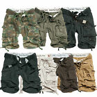 Mens Surplus Vintage Army Division Military Spec Combat Cargo Shorts 3/4 S-XXL