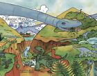 Dinosaur Timeline Mural-Style Pre-Pasted Wallpaper Wall Border ~ Size Choice