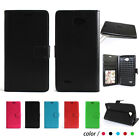 BLU Cell Phone PERFECT FIT Luxury Leather Flip Wallet Case Cover Pocket Book