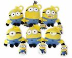 "DESPICABLE ME 2 MINIONS 5"" PLUSH BAG CLIP CHOOSE DESIGN - DAVE STUART KEVIN"