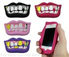 New Novelty Crazy Lips Teeth Cute Silicone 3D Case Cover For iPhone 4 4s 5 5s 5c