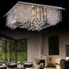 Spectacular Square Crystal Ceiling Light Chandelier Flush Fitting Lamp Fixture