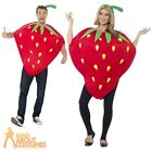 Adult Strawberry Costume Funny Fruit Fancy Dress Food Party Outfit New