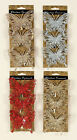 3 x Large Glitter Butterflies Clips Picks Christmas Decorations Red Silver Gold
