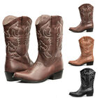 SheSole Womens Winter Wide Calf Western Cowboy Boots Wedding Shoes Size 5-11
