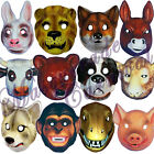 LARGE Plastic Animal Party Mask Children Fancy Dress Costume Elasticated Strap