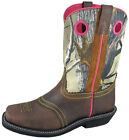 """Womens Smoky Mountain Pawnee 11"""" Western Boots Brown/Camo Leather 6361"""