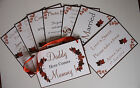 Handmade AUTUMN LEAVES wedding signs :9 designs, 60 colours, fully personalised