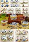 1Set/4pcs New Chinese Traditional Handmade Porcelain Powder Case Box Jewelry Box