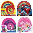 DISNEY CHILDRENS KIDS 3 PIECE BREAKFAST SET DINNER TUMBLER CUP BOWL AND PLATE